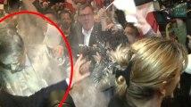 Enfariné à Strasbourg, François Fillon préfère s'en amuser