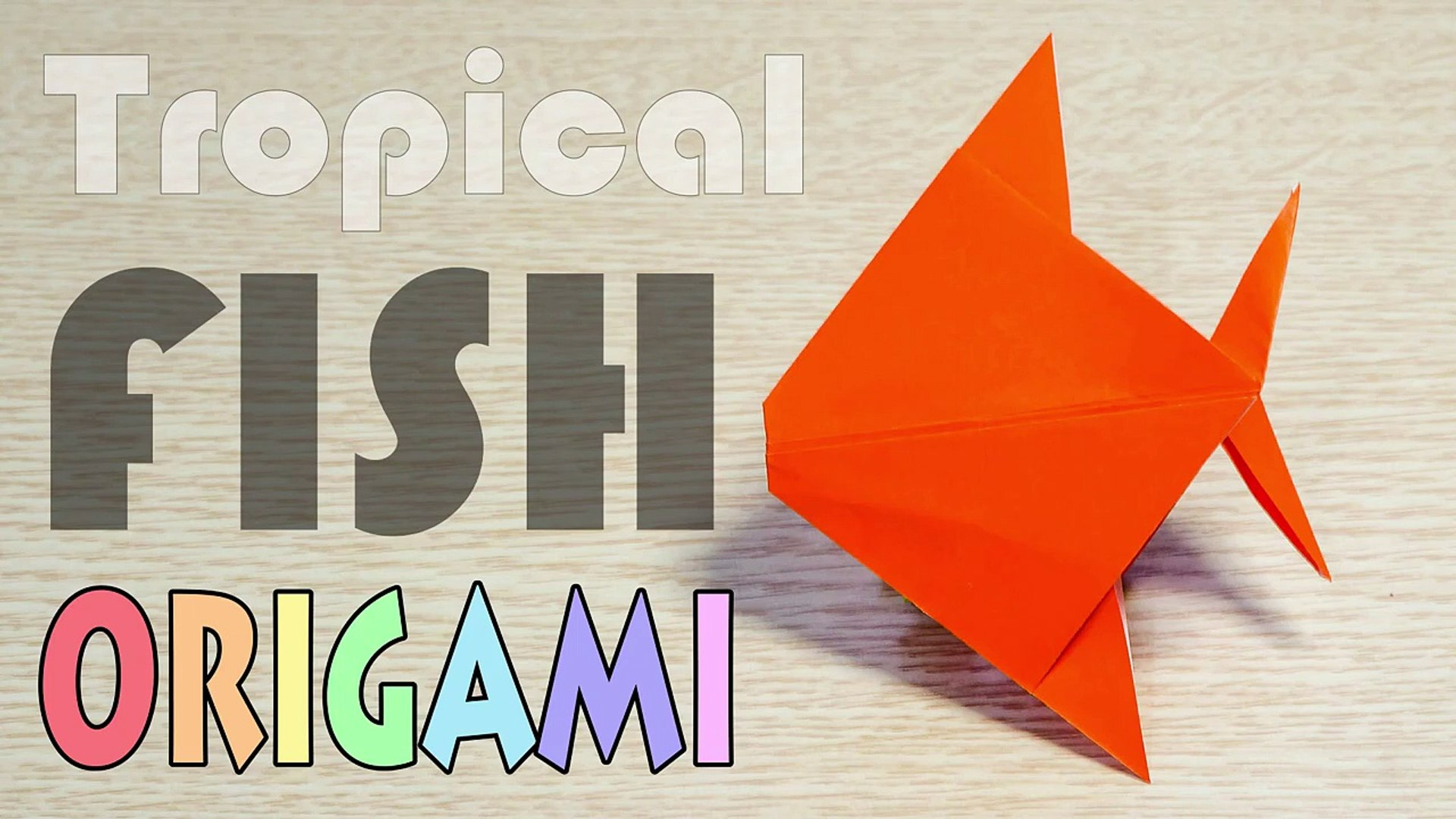 origami fish easy for kids - YouTube   1080x1920