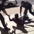 He tried to pay a fine. Officers tackled him
