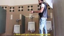 【トイレでイタズラドッキリ】トイレでオナラ音出したら�