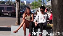 【お金の力でナンパドッキリ】美女を500ドルで下着姿に…追加200ドルでキス…2000ドルで最後までw【海外人気ドッキリ!ハプニング集!俺的ランキング!】
