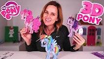 My Little Pony - Building MLP 3D Pony w- Amy Jo - Pinkie Pie, Rainbow Dash, Twilight Sparkle Pos