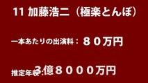 【芸能人半端ないやん・・・】 芸能人&女優&アイドルの収入ランキング+生涯収入ランキング!!! 【最新】