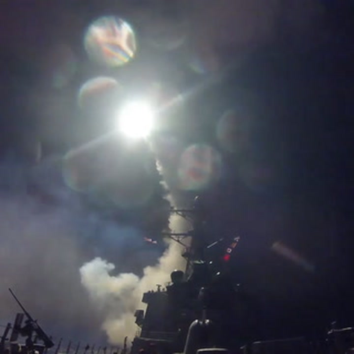 Breaking: the U.S. just launched more than 50 missiles on Syria