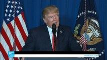 اسمع كلمة ترامب بعد توجيه ضربة عسكرية على قاعدة عسكرية جوية سورية