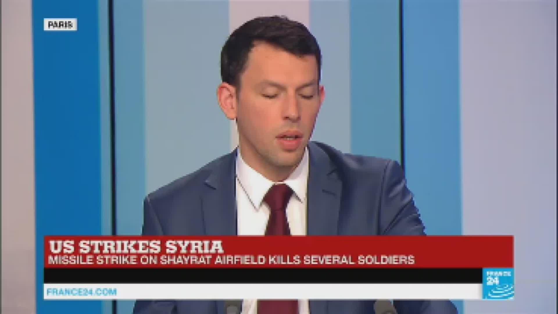 US missile strikes against Syria air base