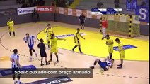 Andebol- Lances polémicos do ABC-FC Porto (Andebol 1, 2.ª fase, 2.ª jornada, 05-04-17)