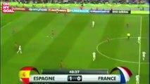 Le but de Franck Ribéry qui a fait chavirer toute la France face à l'Espagne