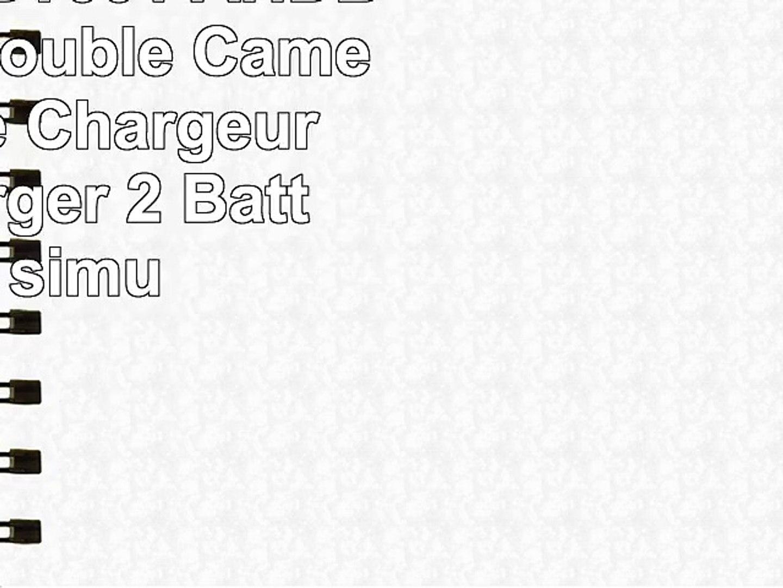 Invero AHDBT001 AHDBT002 LCD Double Caméra Batterie Chargeur peut charger 2 Batteries