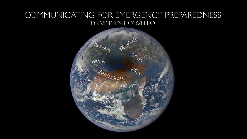 """Emergency communication"" by Vincent COVELLO, Director of the Center for Risk Communication, USA"