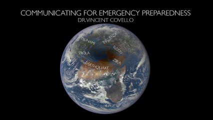 """""""Emergency communication"""" by Vincent COVELLO, Director of the Center for Risk Communication, USA"""