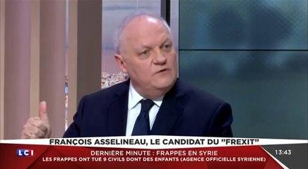 François Asselineau sur la crise syrienne et le FREXIT (07/04/2017)