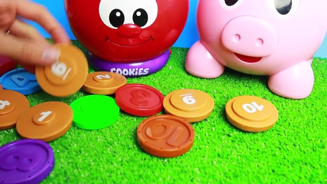 PLAY FOOD Count N Learn COOKIE JAR + PIG + Melissa & Doug CUPCAKES Cook N Learn Play Kitchen Food