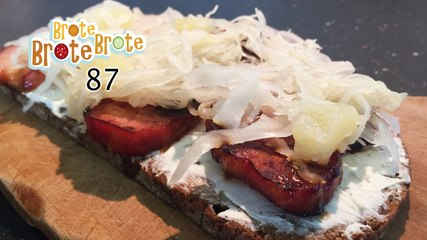 Frischkäse-Kassler-Brot mit Ananas-Sauerkraut - Folge 87
