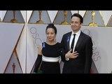 Lin-Manuel Miranda and Luz Towns Miranda 2017 Oscars Red Carpet jpg