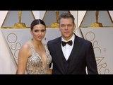 Matt Damon and Luciana Barroso 2017 Oscars Red Carpet