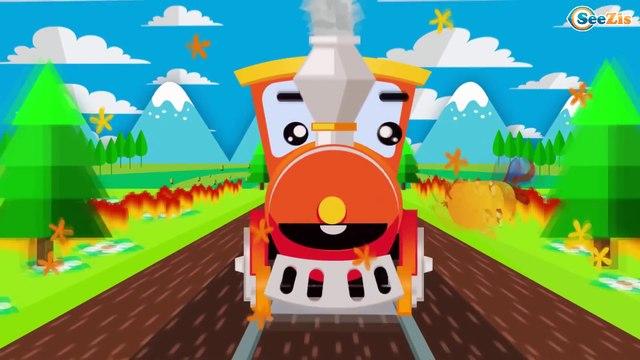Dibujos animados educativos en español - Trenes infantiles - El tren videos - Carritos Para Niños