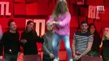 Ophélie Winter met le feu au Studio 4 de RTL
