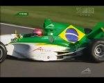A1GP Lausitzring 2005 2006 Race 2 Restart Piquet jr (Brazil) Noda (Japan) crash