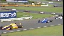 Formula Nippon Fuji Rd 7 1996 Huge crash Schumacher Kageyama (Funny japanese commentary)