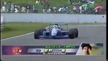 Formula Nippon Fuji Rd 7 Hoshino spins again Funny japanese commentary