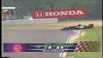Formula Nippon Sugo Rd 6 1996 Start Kondoh spins (Japanese commentary)
