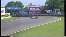 Formula Nippon Fuji Rd 3 1996 Tamanaka crash into Nakano (Funny japanese commentary)