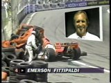 CART Detroit 1993 Big crash Fittipaldi