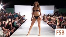 Fashion Swimwear. Los A wim Week Spring 2016.Sexy girls show