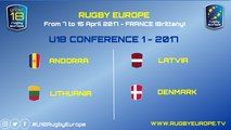 REPLAY LATVIA / DENMARK - RUGBY EUROPE U18 CONFERENCE 1 - 2017
