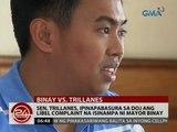 24Oras: Sen. Trillanes, ipinapabasura sa DOJ ang libel complaint na isinampa ni Mayor Binay