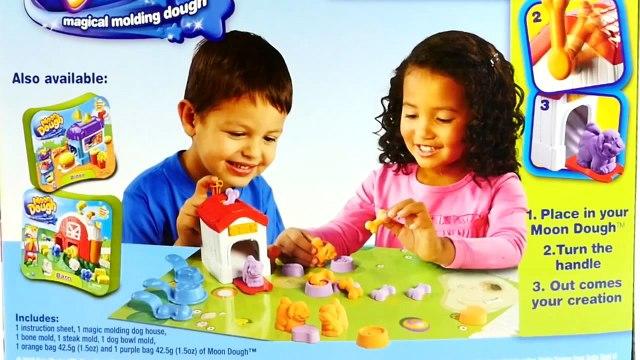 Moon Dough Puppies Play-Doh Peppa Pig Puppy Shopping with George Pig Cachorro de Plastilin