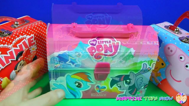 Minnie Mouse, My Little Pony and Peppa Pig Lunch Boxes with Filly Ponies, Candy, Sweets, Lollipop