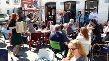 Ambiance ensoleillée au marché de Mons. Vidéo Eric Ghislain