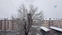 Tatvan'da Kar Yağışı Etkili Oldu