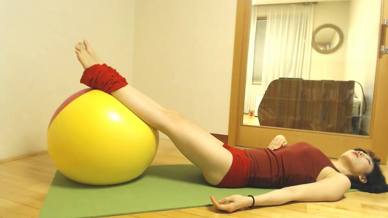 Yoga gymball workout