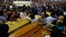 Mısır'da kilise saldırılarında ölenler toprağa veriliyor