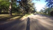 Chute en skateboard électrique !!! Apprentissage de mon longboard ornii coyote avec une chute en voulant m'arrêter video 3/4 au parc de parilly