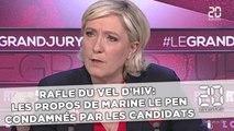 Rafle du Vel d'Hiv:  Les propos de Marine Le Pen condamnés par les candidats
