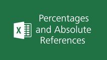 Microsoft Excel 2016 Tutorials - Percentages and Absolute References in Excel