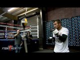 Lomachenko vs. Walters- Vasyl Lomachenko's Media Workout - Mitts, heavy bag & speed bag