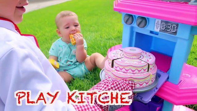 Giant PLAY KITCHEN Cooking Baby Belle Make Food Pretend Play Fun Disney Princess New Giant KITCHEN