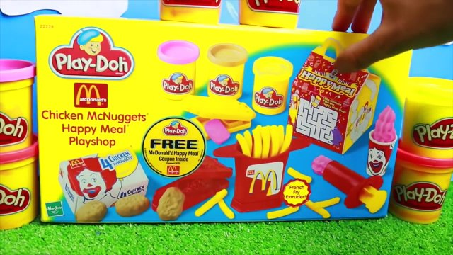 McDonalds PLAY-DOH McNuggets French Fries McFlurry Ice Cream Dessert HAPPY MEAL SURPRISE Fast Food