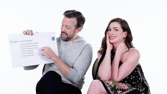 Anne Hathaway & Jason Sudeikis Answer the Web's Most Searched Questions - WIRED
