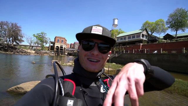 Found Lost iPhone, Fishing Pole and Swimbaits Underwater in River! (Scuba Diving)