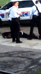 Officer curb stomps guys head