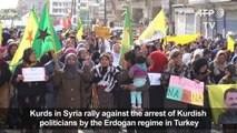 Syria: Kurds protest arrest of Kurdish politicians in Turkey