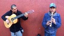 Artista Callejero: Eduardo Avila y Esteban Inostroza músicos de Folclore Latinoamericano - Santiago de Chile - El Ciudadano .