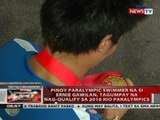 Pinoy paralympic swimmer na si Ernie Gawilan, tagumpay na nag-qualify sa 2016 Rio Paralympics