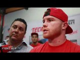 """Canelo to Mcgregor """"If he wants to come to boxing im ready any day, its not as easy as he thinks"""""""
